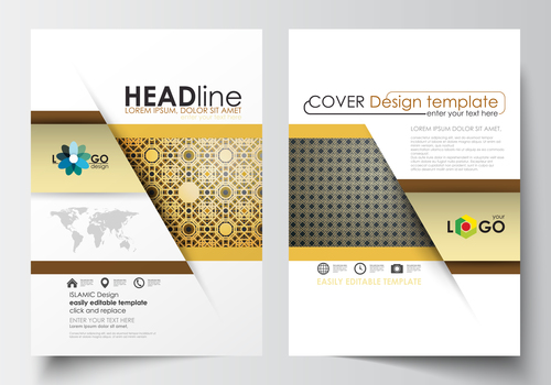 Company brochure cover vector