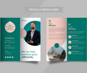 Company concept trifold brochure vector