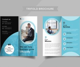 Company consultant trifold brochure vector
