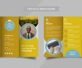Company innovation trifold brochure vector