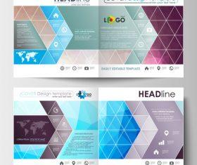 Company presentation brochure vector