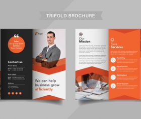 Company promotion trifold brochure vector