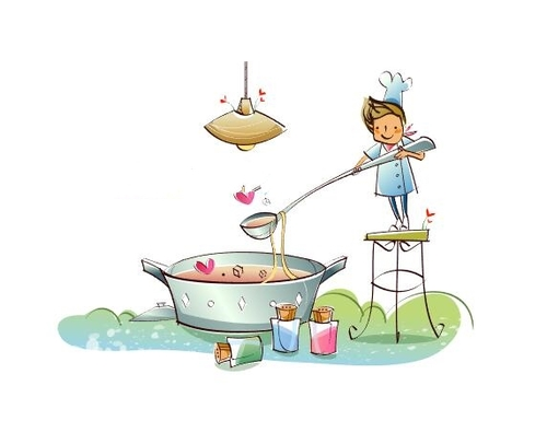 Cooking concept illustration vector