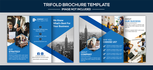 Corp promote brochure design vector