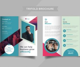 Corporate promotion trifold brochure vector
