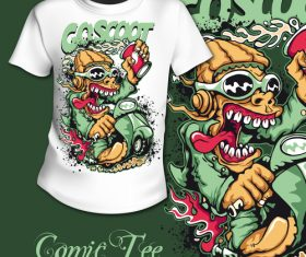 Coscoot t-shirt printing pattern design vector