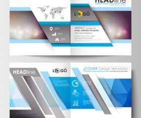 Cover design color gradient template vector