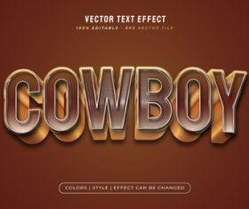 Cowboy 3d editable text vector