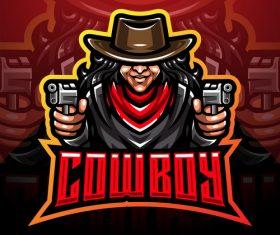 Cowboy game icon design vector