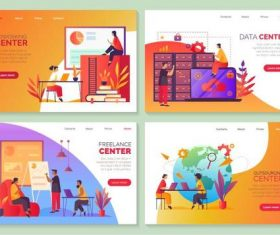 Coworking center cartoon illustration vector