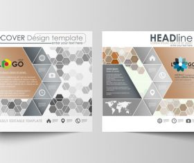 Creative cover design template vector