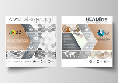 Creative cover design template vector