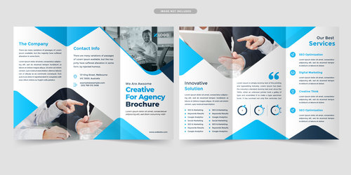 Creative for agency brochure vector
