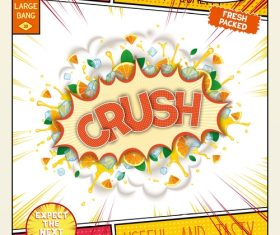 Crush comic bang vector