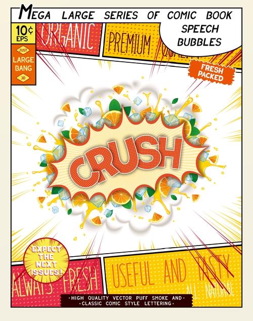 Crush comic bang vector