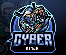 Cyger game mascot design vector