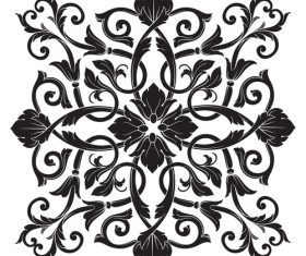 Damask decorative floral pattern vector