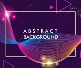Dark purple glowing abstract background vector