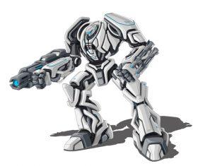 Deformed robot warrior vector