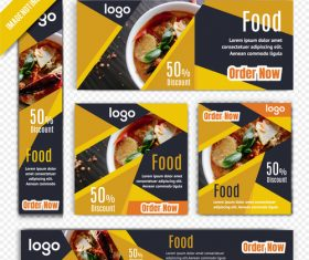 Delicious food poster vector