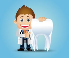 Dentist cartoon vector