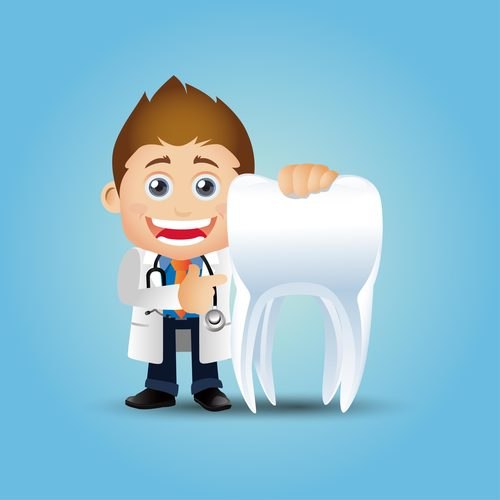 Dentist cartoon vector