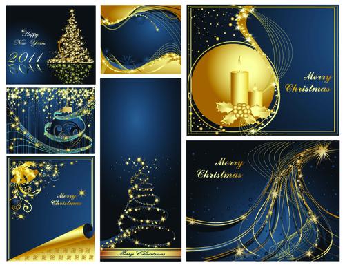 Design Christmas card cover vector