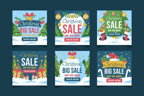 Design business Christmas promotion card vector
