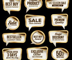 Dialog box sale label sticker vector
