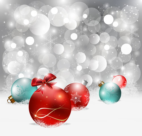 Different color Christmas balls vector