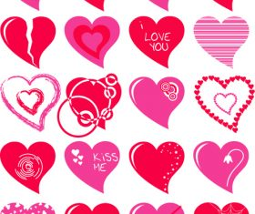 Different heart patterns vector