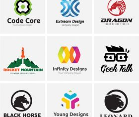 Different logo vector
