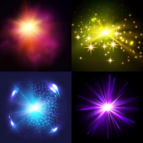 Different shiny light vector