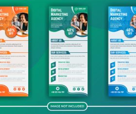 Digital marketing agency poster banner vector