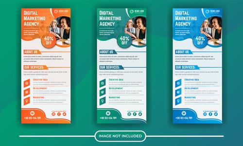 Digital marketing agency poster banner vector