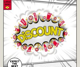 Discount comic bang vector