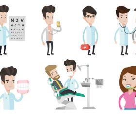 Doctors in various departments vector