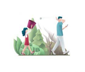 Don't litter cartoon illustration vector