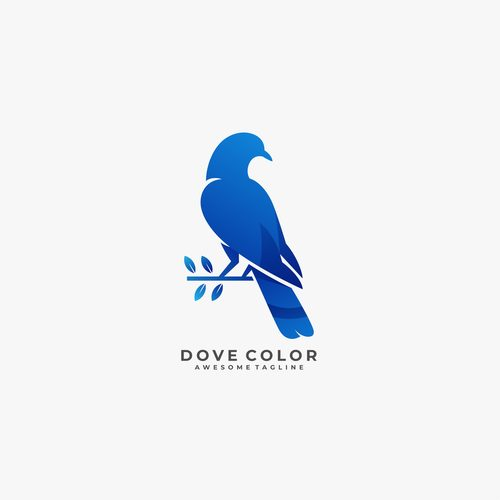 Dove color logos vector