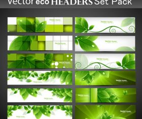 Eco plant banner vector
