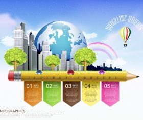 Ecology concept infographic vector