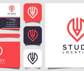 Education business card logo vector