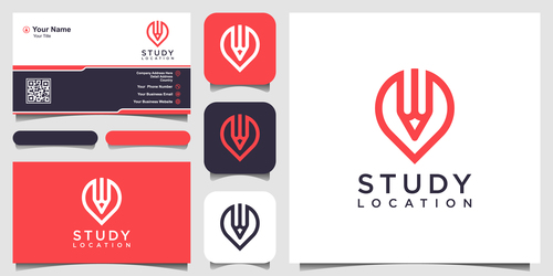 Education business card logo vector