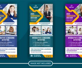 Education poster banner vector