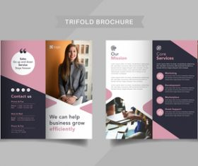 Efficient management of trifold brochure vector