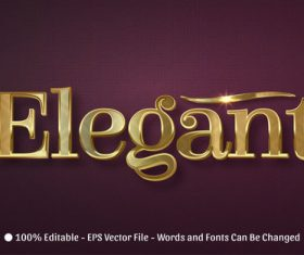Elrgant 3d editable text style effect vector