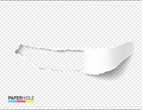Empty realistic rolled up ripped paper background vector