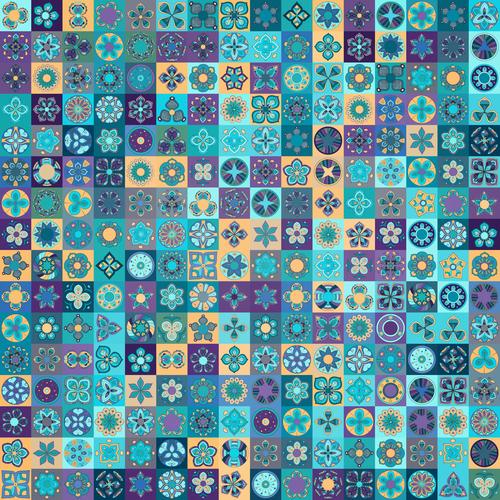 Ethnic ornament design seamless pattern vector