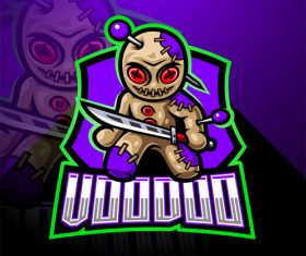 Evil voodoo game icon design vector