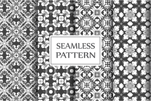 Exquisite baroque seamless background pattern vector